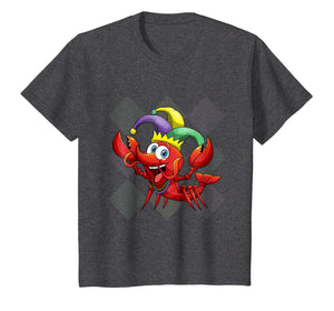 Kids Mardi Gras Shirt Funny Crawfish Beads Costume Gift