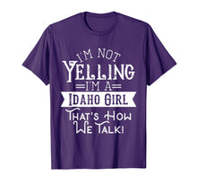 Afbeelding in Gallery-weergave laden, I'm not yelling I'm a Idaho girl Vintage tshirt