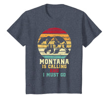 Afbeelding in Gallery-weergave laden, Montana Is Calling And I Must Go Bear And Mountains T-Shirt