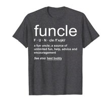 Afbeelding in Gallery-weergave laden, Mens Funny Funcle Word Definition Uncle Gift T-shirt
