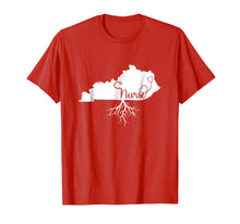 Afbeelding in Gallery-weergave laden, Kentucky Roots Nurse State Map KY Home Love Pride T Shirt