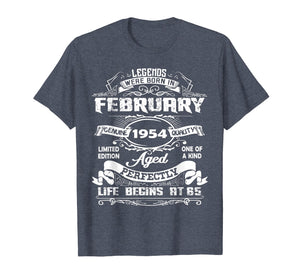 Legends Were Born In february 1954 T-Shirt, 65th Birthday