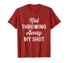 Afbeelding in Gallery-weergave laden, Not Throwing My Shot Away | Historic Hamilton Quote Shirt