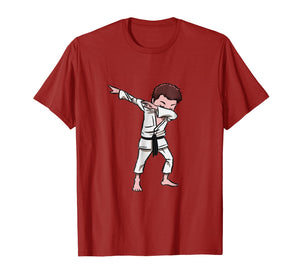 Karate Taekwondo Dabbing Boy Funny Dab T-shirt for kids