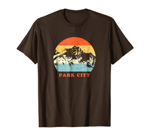 Park City Utah Vintage Mountain Lovers Throwback Gift TShirt