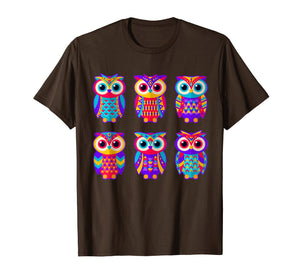 Owl Shirt - Love Owls Colorful Tshirt
