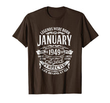 Afbeelding in Gallery-weergave laden, Legends Were Born In January 1949, 70th Birthday Gift Shirt