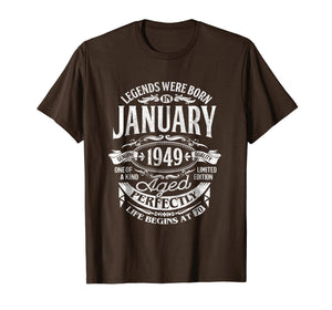 Legends Were Born In January 1949, 70th Birthday Gift Shirt