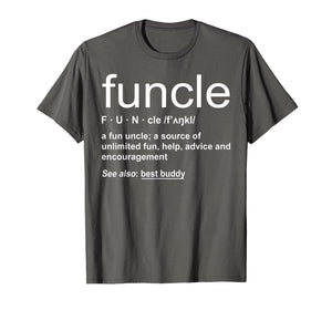Mens Funny Funcle Word Definition Uncle Gift T-shirt