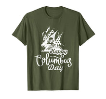 Afbeelding in Gallery-weergave laden, Happy Columbus Day T-Shirt Discovery Italian Explorer