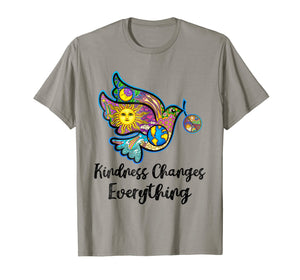 kindness changes everything bird hippie gypsy soul t shirt