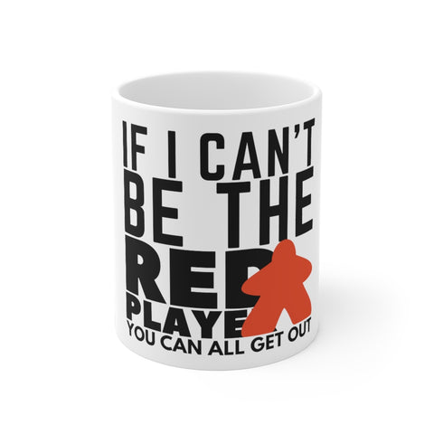 Red Player Board Game Mug - boardgamerstore