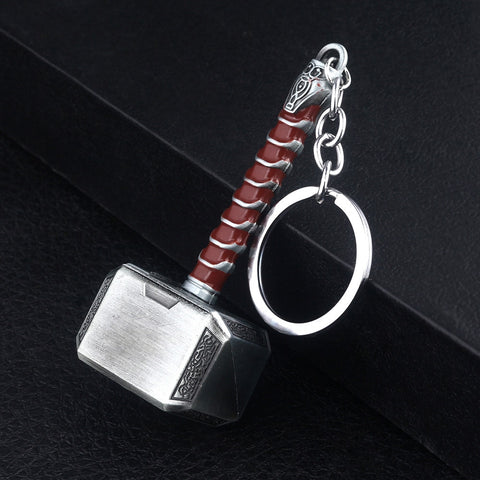 Thor's Mjolnir Metal Key Chain - boardgamerstore