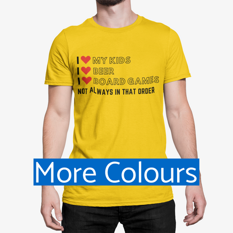 I Love Board Games Funny T-Shirt