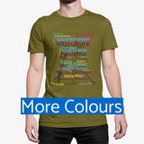 Board Game T-Shirt multi-colour game titles