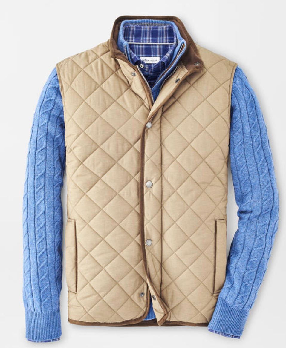 PETER MILLAR ESSEX QUILTED TRAVEL VEST