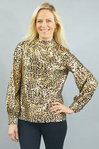 CK BRADLEY EMERY BLOUSE LONG SLEEVE WITH MOCK NECK