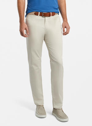 PETER MILLAR BROKEN TWILL COTTON  5 POCKET TROUSER