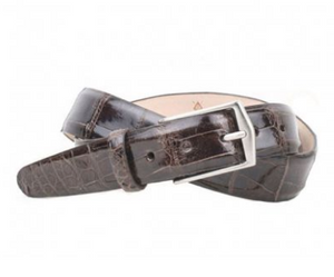 JULIAN 2 BUCKLE AUTHENTIC ALLIGATOR