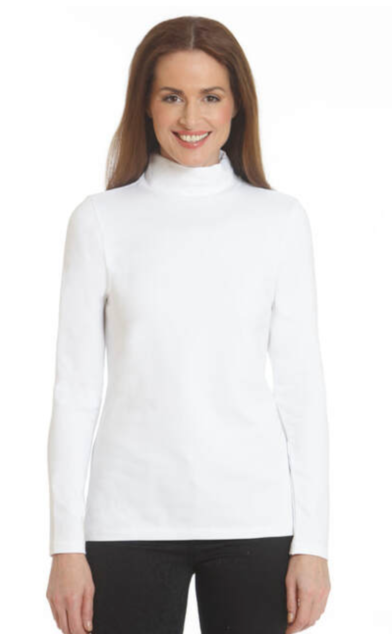 E.L.I. LONG SLEEVE MOCK NECK TOP