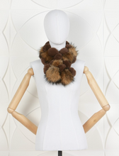 Load image into Gallery viewer, DANA STEIN RABBIT SCARF WITH RACOON TRIM