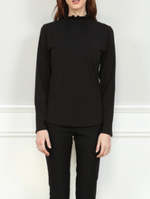 Load image into Gallery viewer, HINSON WU GEORGIA RUFFLE NECK KNIT NECK TEE