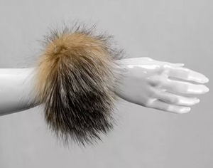 MITCHIE'S MATCHINGS FOX FUR SNAP CUFFS