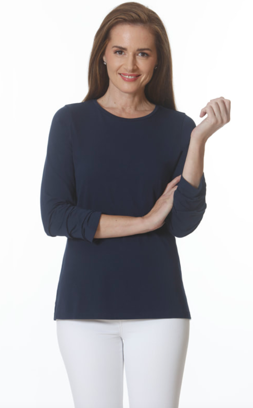 E.L.I. RUCHED SLEEVE TUNIC