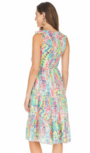 Load image into Gallery viewer, JADE V-NECK RUFFLE TIERED DRESS