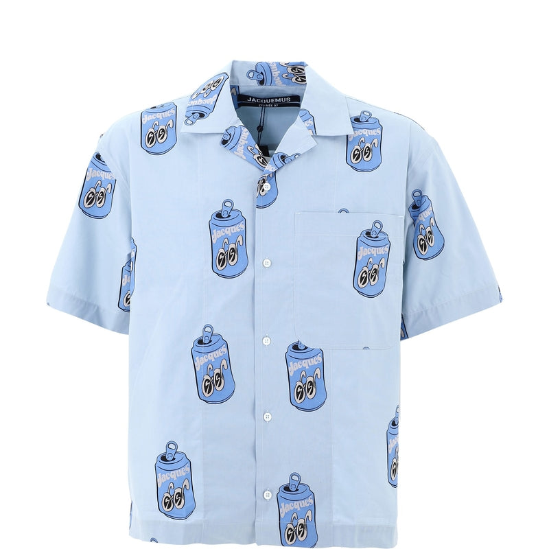 JACQUEMUS Casual Shirts 206SH21-206107343BLUE CAN PRINT 362012