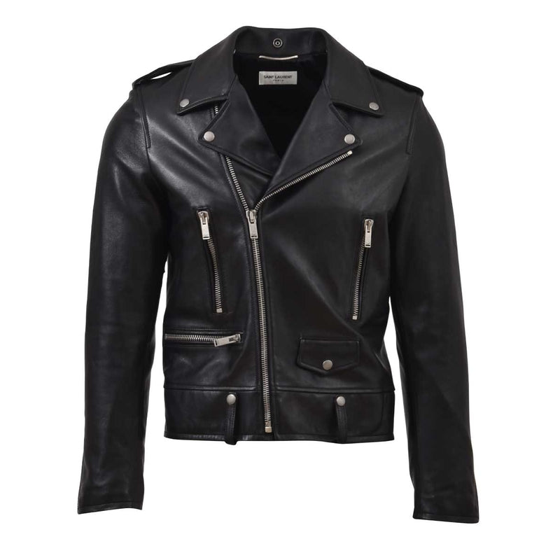 SAINT LAURENT Leather Jacket 484284 Y5YA2 1000 121493 - Ritzmall