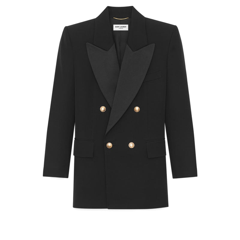 SAINT LAURENT Single Breasted Coat 614347 Y512W 1000 322510 - Ritzmall