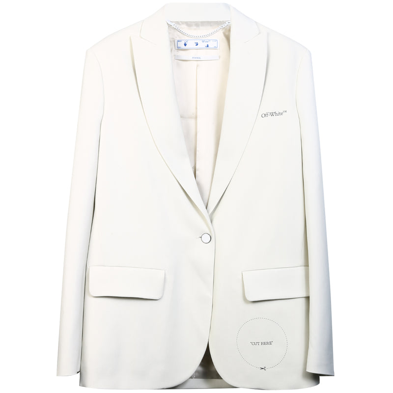 OFF WHITE Single Breasted Coat OWEF032S20FAB005 0100 314920 - Ritzmall