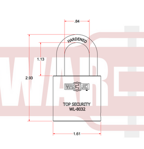 1 inch shackle clearance padlock