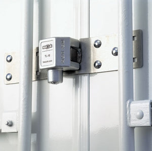 Trailer Door Lock in Use