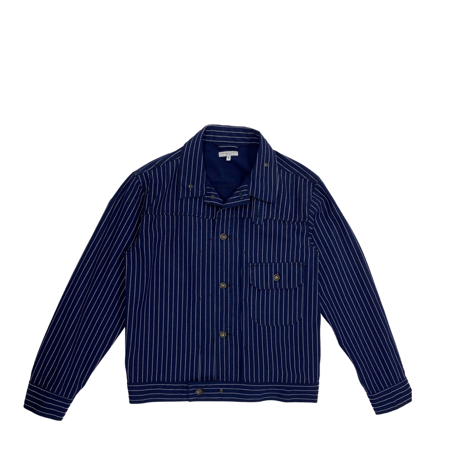 Engineered Garments Indigo Wabash Trucker Jacket