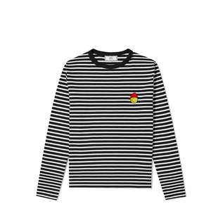 AMI Smiley Patch Stripe L/S