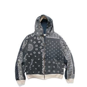 Kapital Fleecy Knit Bandana BIVOUAC Hooded Blouson