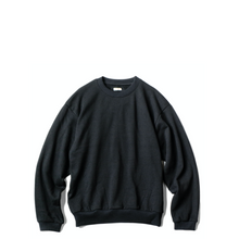 Load image into Gallery viewer, Kapital ECO Fleece Knit Crew SWT (SMILE PATCH) BLK