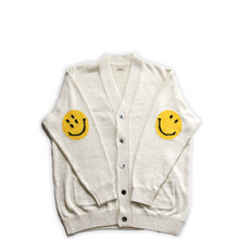 Load image into Gallery viewer, Kapital 5G Cotton Knit SMILIE Patch Cardigan Natural