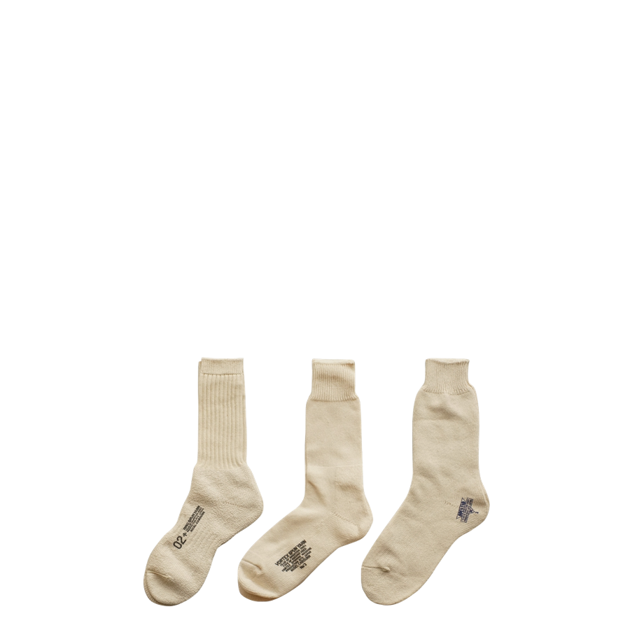 Nigel Cabourn 3 Pack Army Socks Ivory