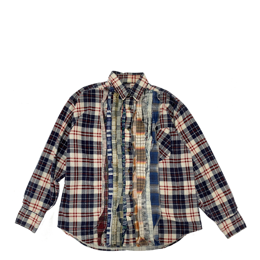 Needles Rebuild Ribbon Flannel Shirt L1