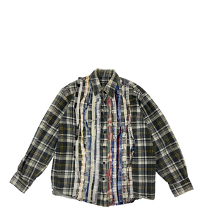 Needles Rebuild Ribbon Flannel Shirt M