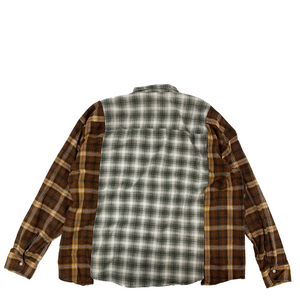 Needles Rebuild Flannel Ribbon Wide Shirt OS1