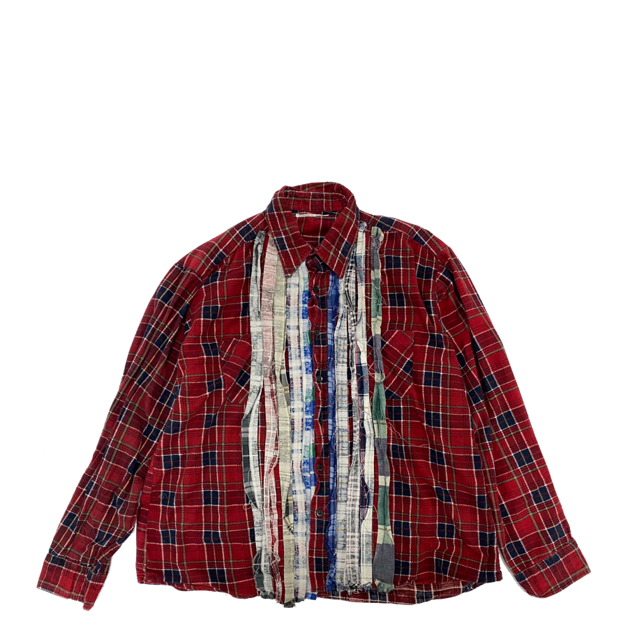 Needles Rebuild Ribbon Flannel Shirt XL2