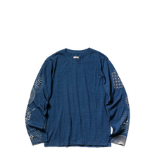 Load image into Gallery viewer, Kapital Indigo Jersey SASHIKO Patchwork Sleeve Tee