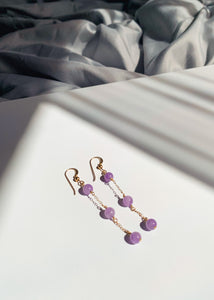 Amethyst Beaded Drop Earrings