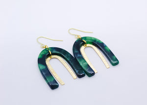 Jaded Bow Earrings