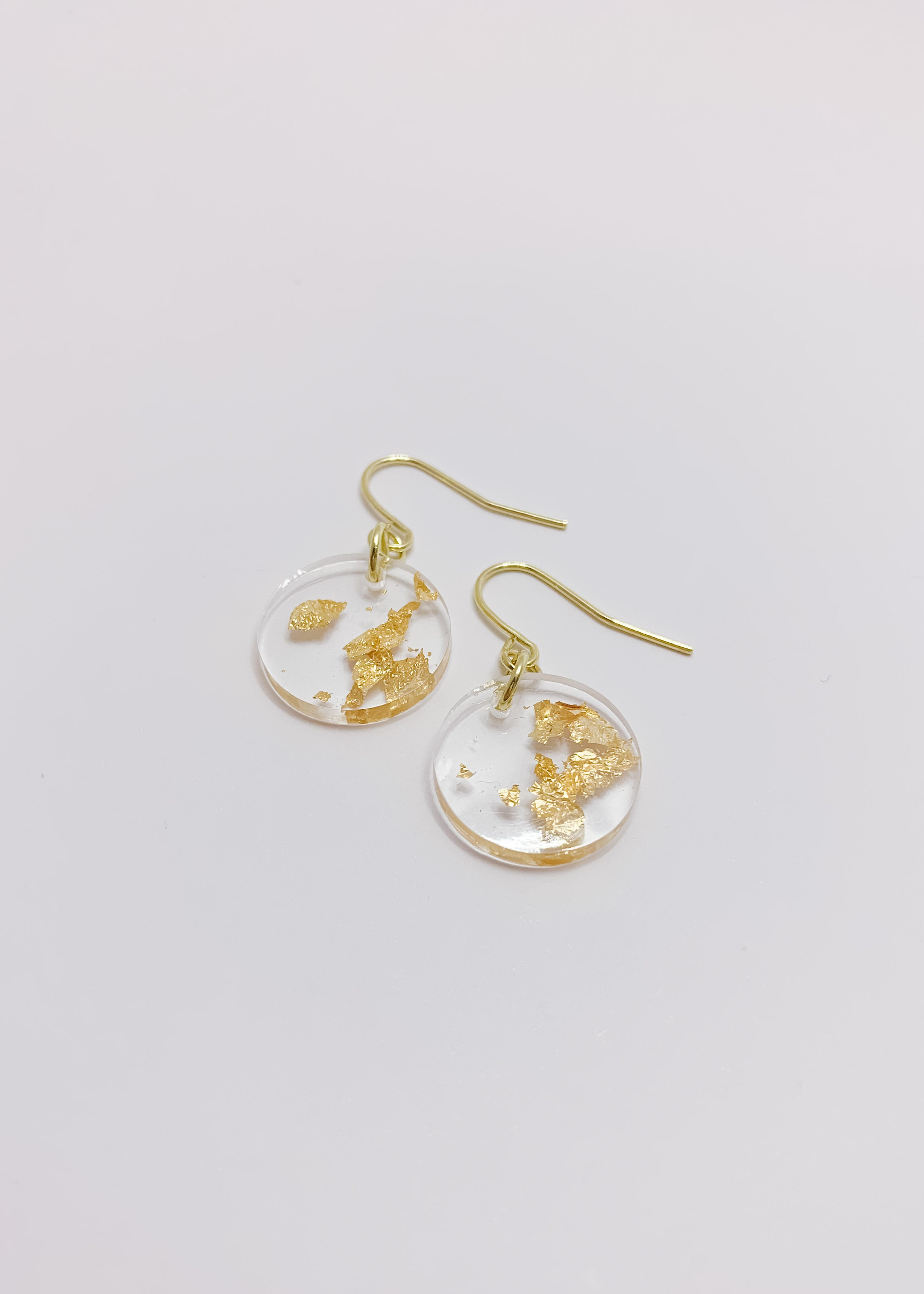 Gold Flake Mini Coin Earrings