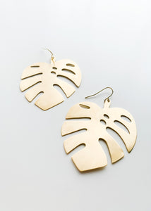 More Monstera Earrings